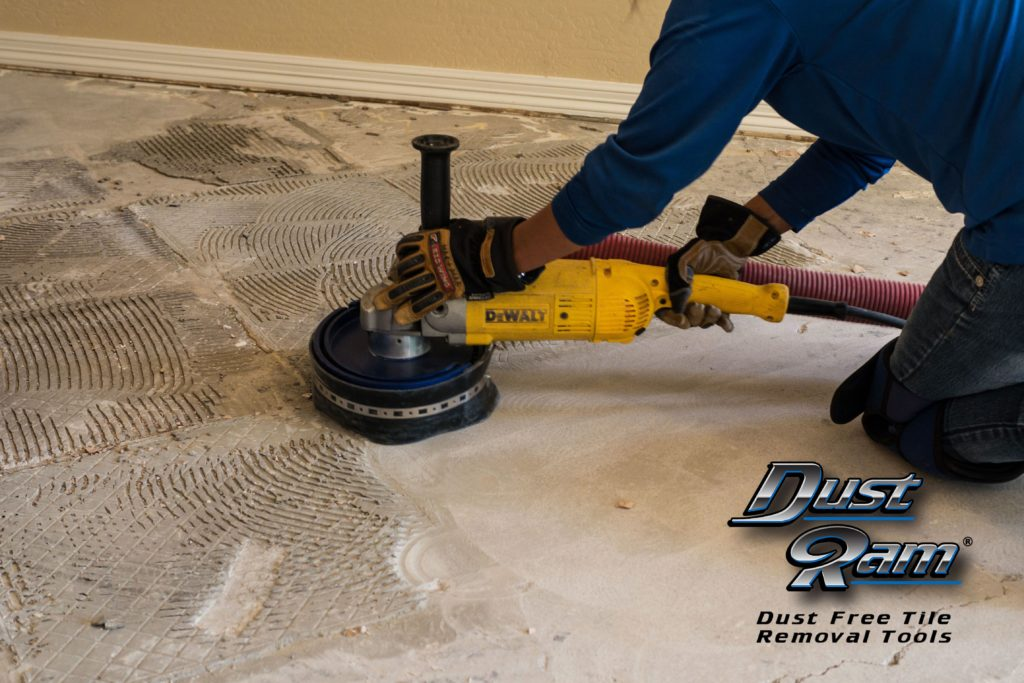 glue adhesive tile removal
